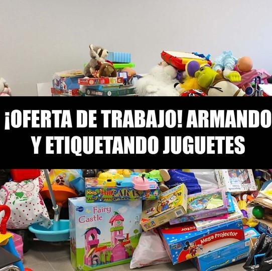 TRABAJA EMPAQUETANDO JUGUETES DESDE LA COMODIDAD DE TU CASA