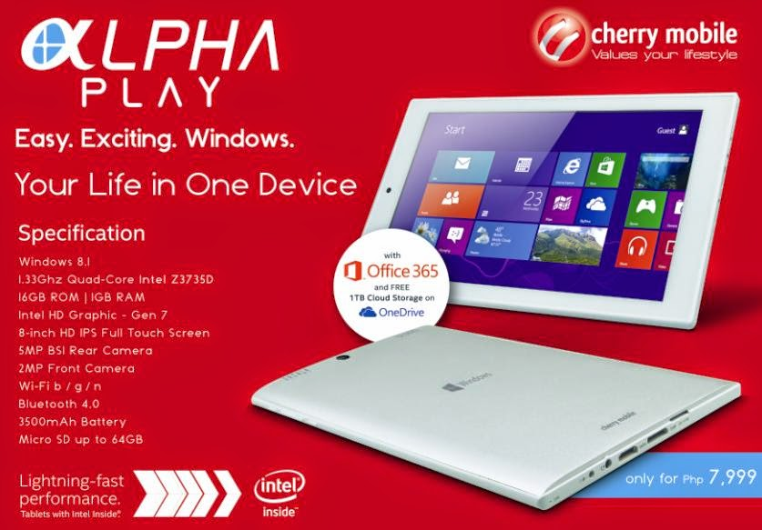 Cherry Mobile Alpha Play Hands-on, Affordable 8-inch Windows 8.1 Tablet