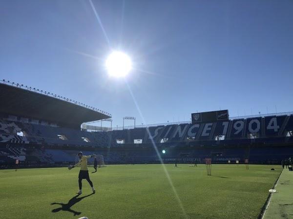 El Málaga da la bienvenida al 2021 entrenando