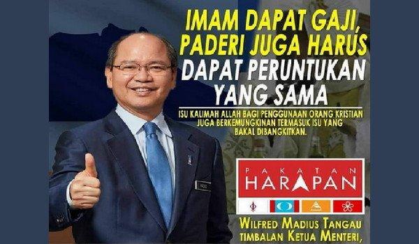 Imam Dapat Gaji, Paderi Juga Harus Dapat Peruntukan Yang Sama – Timbalan Ketua Menteri Sabah