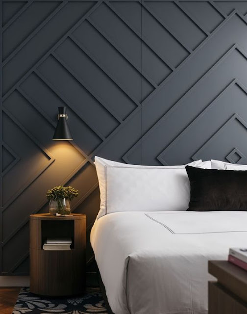 wooden accent wall painted gray
