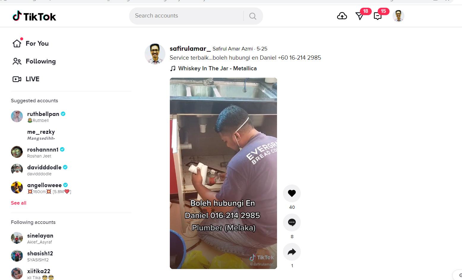 Plumber Terbaik Dan Berkualiti Di Melaka