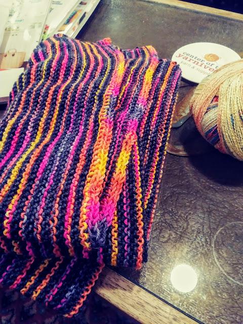 Knit an i-cord bind-off on my Martha Shawl