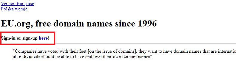 domain .eu.org gratis