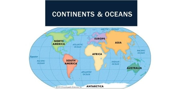 continent and ocean
