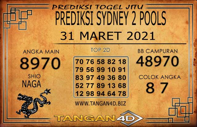 PREDIKSI TOGEL SYDNEY2 TANGAN4D 31 MARET 2021