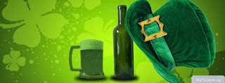 Blessings of leprechaun- Funny FB Cover with Beer to wish Luck