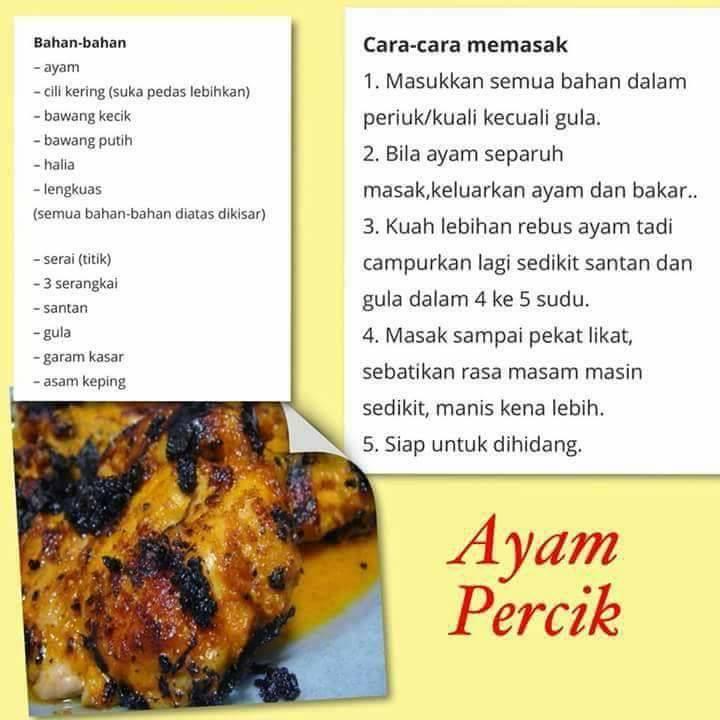 resepi ayam percik