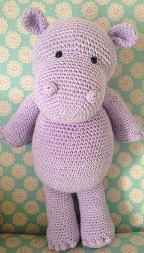Happy Hippo - Free Crochet Amigurumi