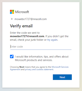 After Filling it, you will get a code on your email check the mail