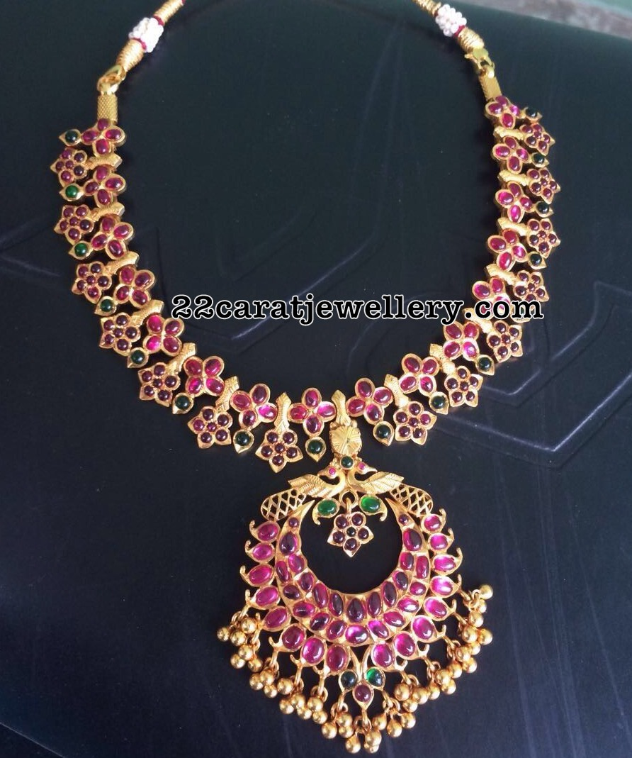 zaveri set necklace buy product ruby pearls delicate