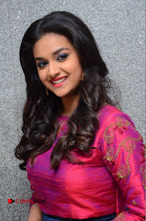 Actress Keerthi Suresh Stills at Remo Success Meet  0050.JPG