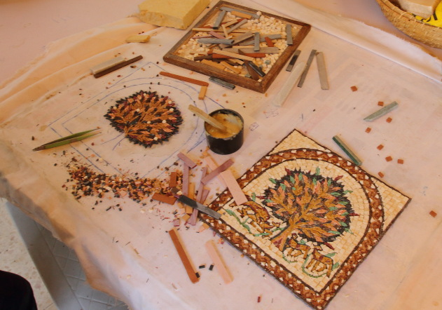 Painstaking work that goes behind the making of Mosaic Art in Jordan