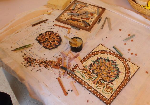 Painstaking work that goes behind the making of Mosaic Art in Jordan