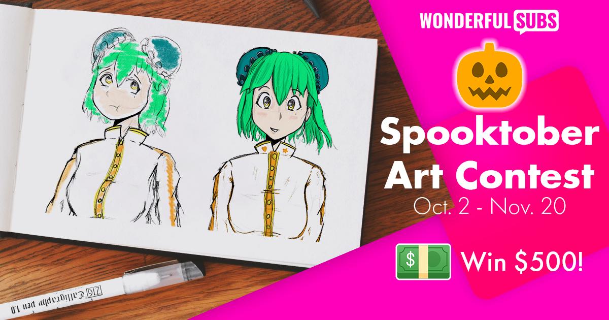 Wonderfulsubs Spooktober Art Contest