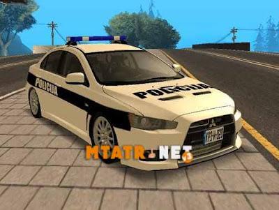 Mitsubishi Lancer Evolution X Police