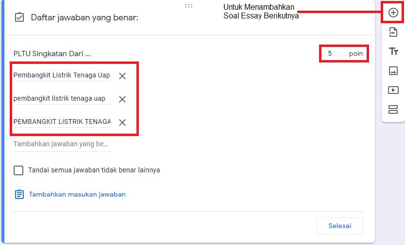 Cara Membuat Soal ESSAY di Google Drive