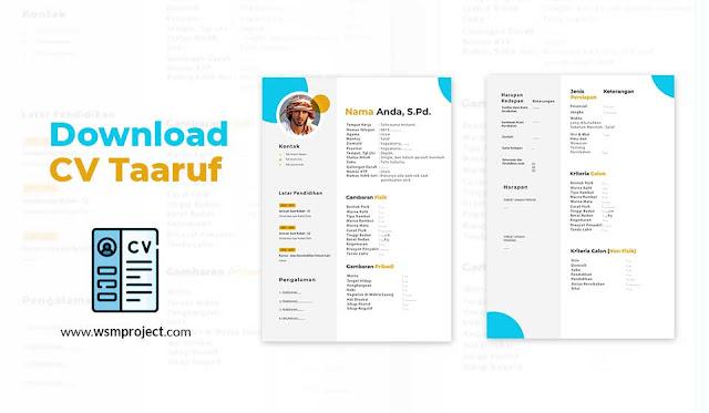 Download Cv Taaruf Akhwat Desain Elegan Dan Simple Siap Edit