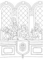 דפי צביעה אלנה הנסיכה מאוולור