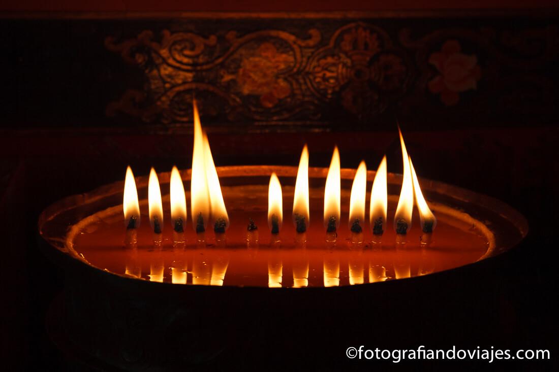 velas budistas