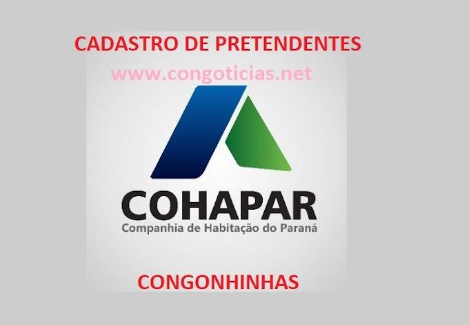ABERTAS AS INSCRIÇÕES PARA CASAS POPULARES DA COHAPAR EM CONGONHINHAS