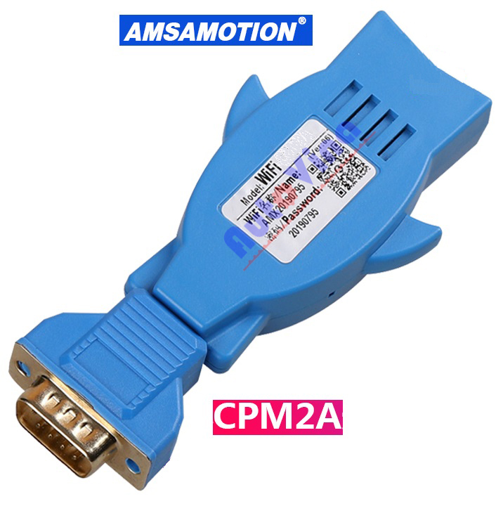 Cable wifi PLC Omron CPM2A Wifi-XW2Z-200S-CV, Wifi-Omron PLC, kết nối Wifi-CPM2A giữa PLC Omron và máy tính