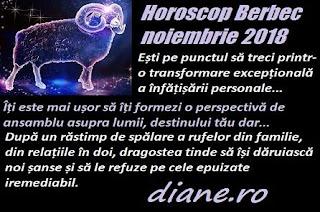 Horoscop Berbec noiembrie 2018