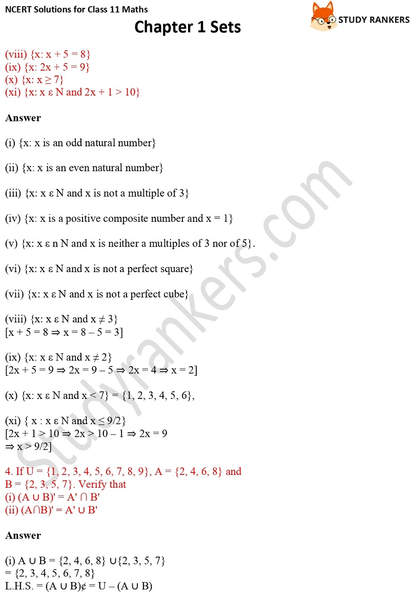 NCERT Solutions for Class 11 Maths Chapter 1 Sets 17