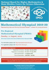 IAPT-NBHM Pre Regional Mathematics Olympiad PRMO (INMO and