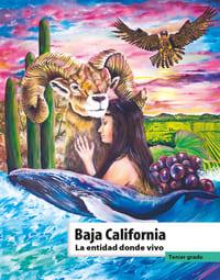 Libro de texto La entidad donde vivo Baja California Tercer grado 2021-2022
