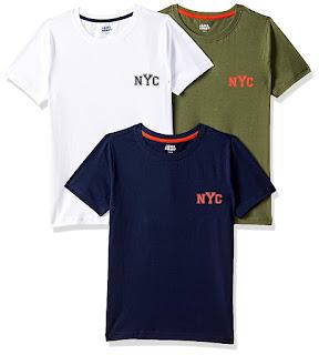 Jam & Honey Boy's Plain Regular fit Cotton T-Shirt