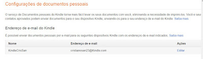 e-mail do Kindle