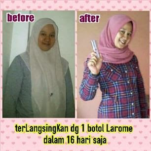 testimoni larome slimming serum