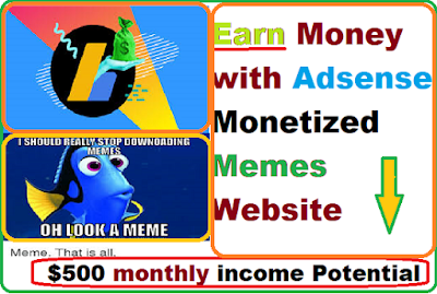 Adsense monetized memes website ($500 Monthly Income Potential)