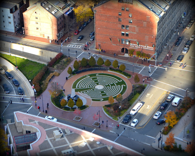 Armenian Heritage Park, Rose Kennedy Greenway, Boston, Massachusetts, shadow