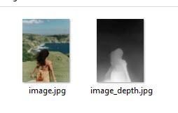 foto e mappa di profondità