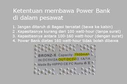 Bolehkah membawa powerbank di Pesawat?