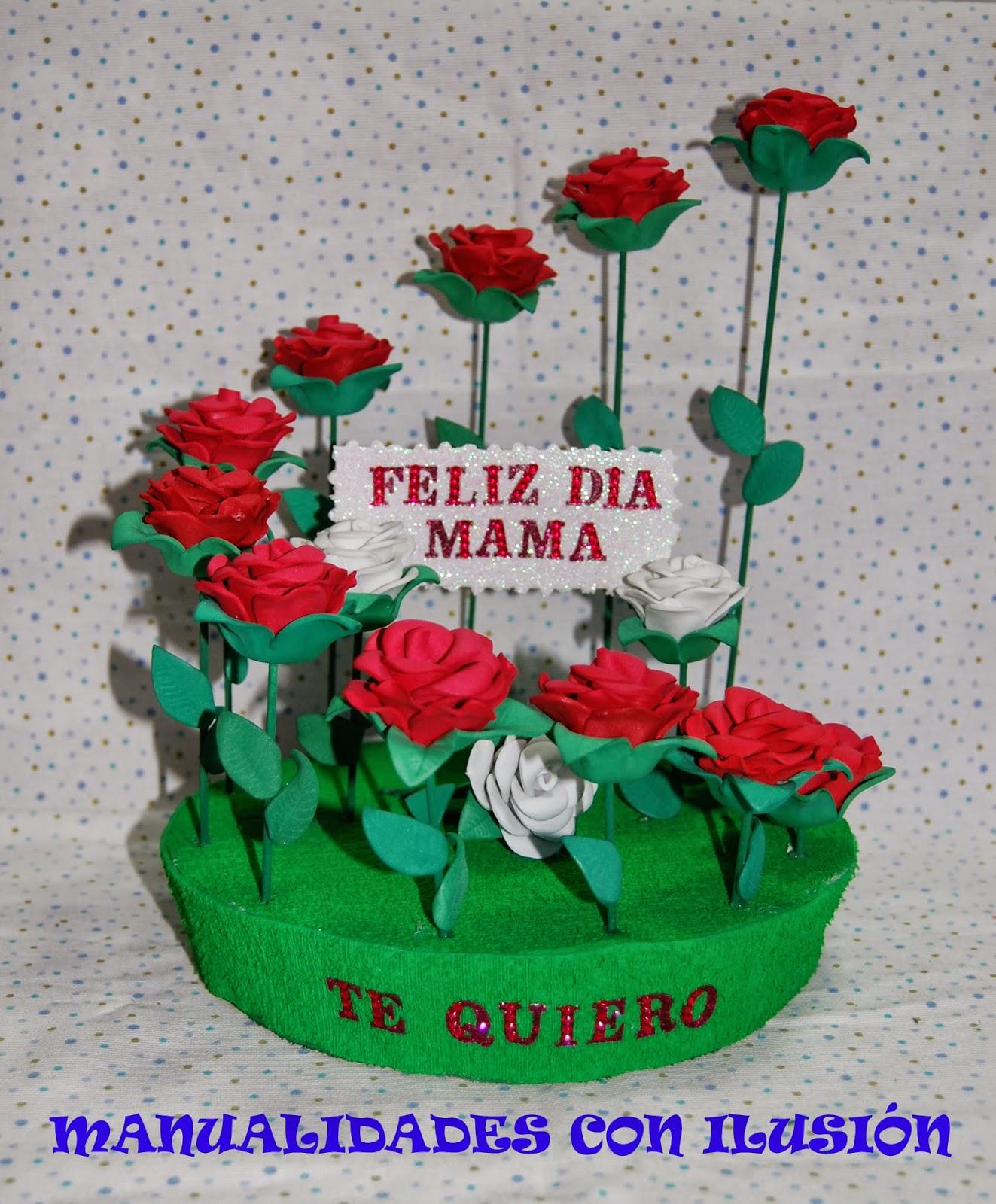 Manualidades Con Ilusion Rosas Dia De La Madre