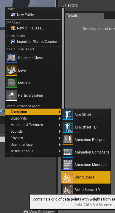 Ue4 enemy characters animations onlinedesignteacher then open the blend space 1d and click the option to display the editor vertically and all the animations compatible with your skeleton should appear on the malvernweather Gallery