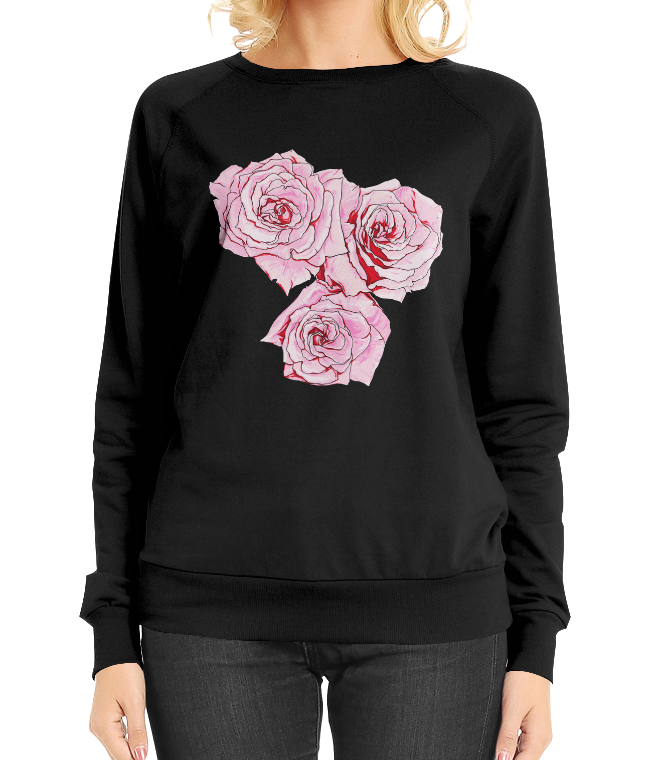 Pink roses print design by Sonia Nezvetaeva