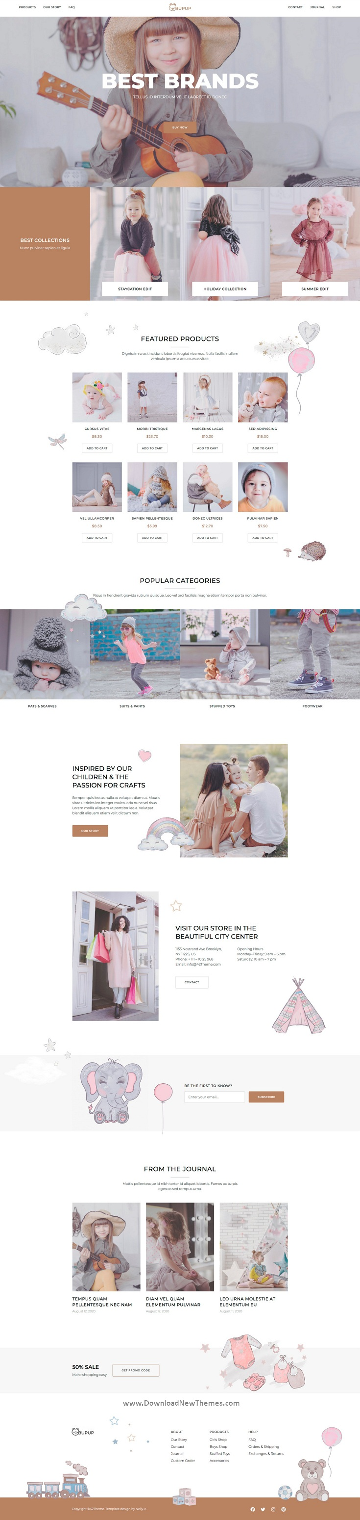 Kids Store & Baby Shop Elementor Template Kit