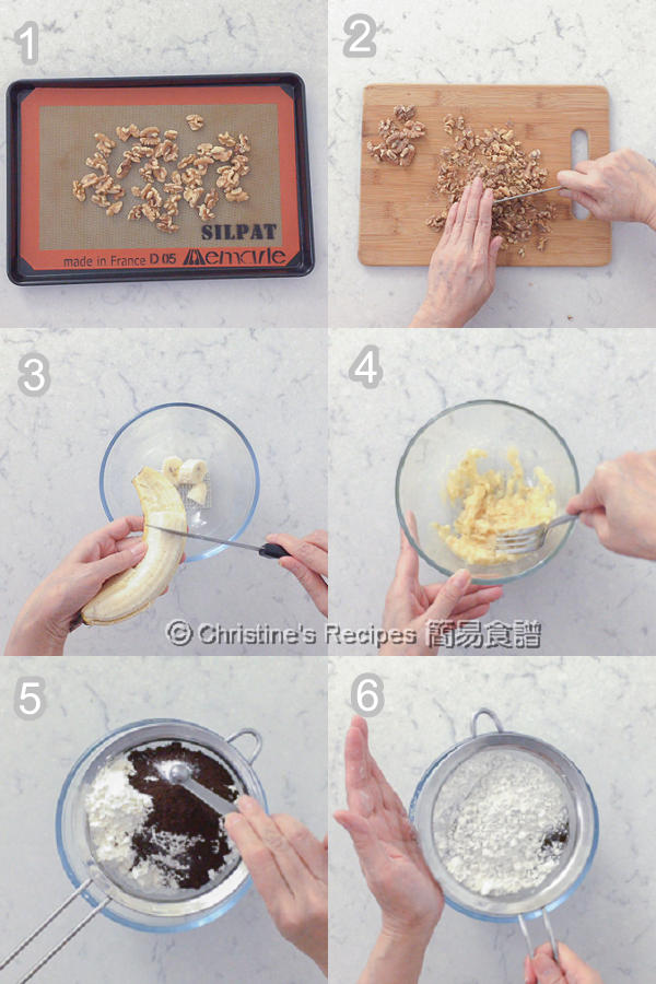 Banana Walnut Coffee Muffins Procedures01