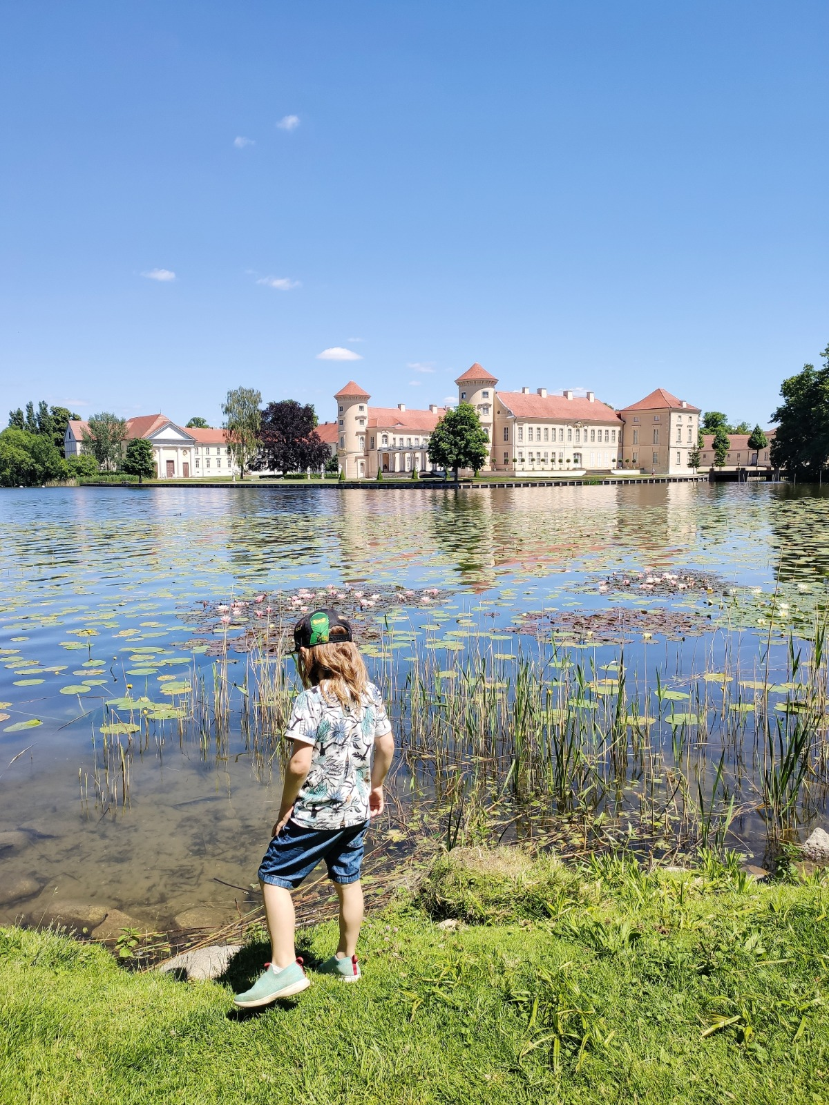 Der Schlosspark Rheinsberg ist toll für Kinder