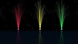 Hiệu ứng đài phun nước chiếu sáng nhiều màu sắc