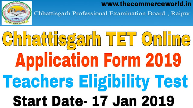 Chhattisgarh TET Online Application Form 2019
