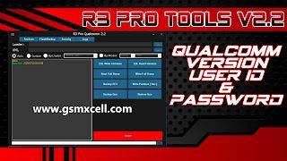R3 Qualcomm Pro Tools v2.2 With Login Free