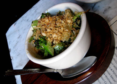 Broccoli with Roasted Garlic and Anchovy Vinaigrette at The Purple Pig in Chicago - Photo by Michelle Judd of Taste As You Go