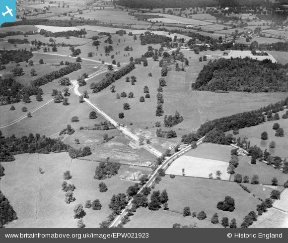 Photograph of North Mimms and George's Wood, Brookmans Park, 1928 Image courtesy of Britain From Above
