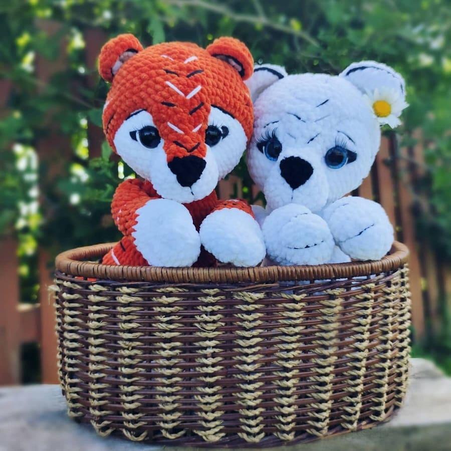 Crochê filhotes de tigre amigurumi