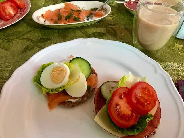 Finnish open rye sourdough sandwiches